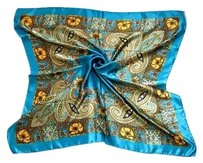 Unknown Teal Satin Feel silk blend fashion scarf free shipping
