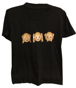 Urban Outfitters T Shirt Black Brown
