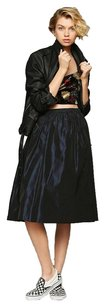 Urban Renewal Satin Prom Stretchy Tulle Skirt Purple