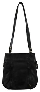Valentina Womens Leather Handbag Satchel in Black