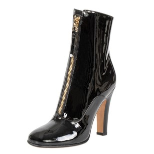 Valentino Patent Leather Ankle Black Boots