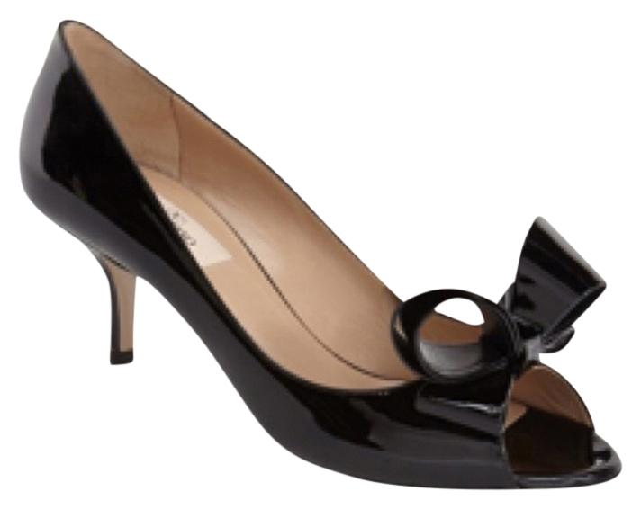 Valentino Black Couture Bow Pumps Size US 5 Regular (M, B)