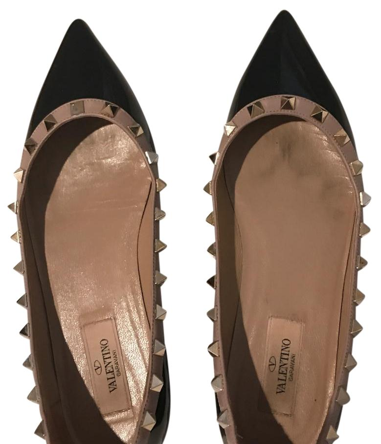 94116b76963 Mr Ms :Valentino Black Rockstud Flats Size US 7 Regular (M