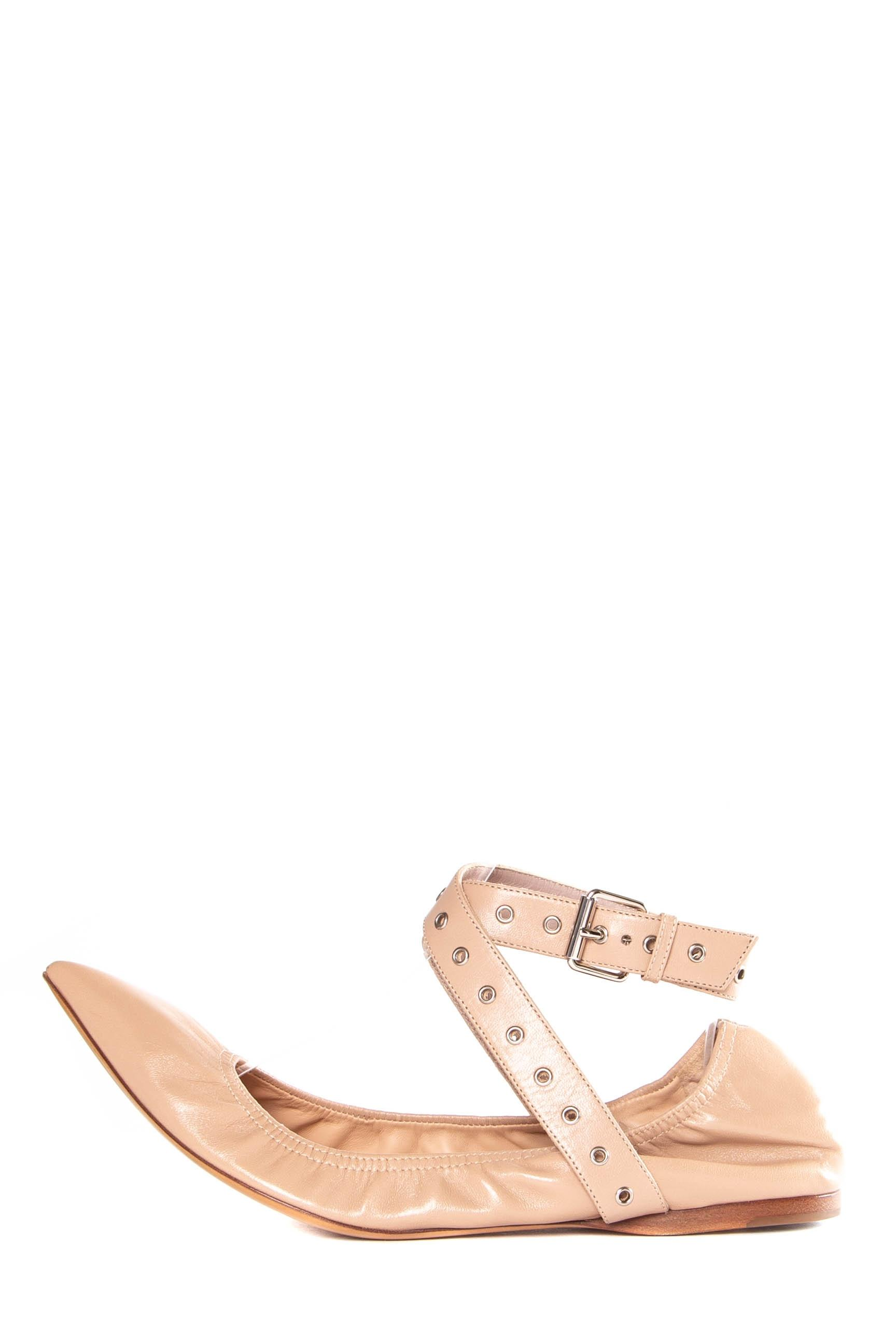679eb08f0 Valentino Blush Leather Love Flats Size EU 40 40 40 (Approx. US 10) Regular  (M