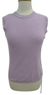 Valentino Wool Sleeveless Knit Top Lavender