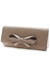 Valentino Leather Glam Taupe Clutch