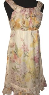 Valentino short dress Pink, White floral on Tradesy