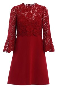 Valentino Formal Crepe Lace Date Night Dress