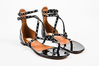 Valentino Patent Black Sandals