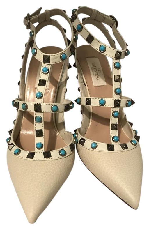 Valentino Ivory Rock Stud Pumps Size EU 39 (Approx. US 9) Regular (M, B)