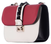 Valentino Leather Small Lock Red Shoulder Bag