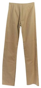 Valentino Lightweight Tan Decorations Made In Italy Trouser Pants Beige