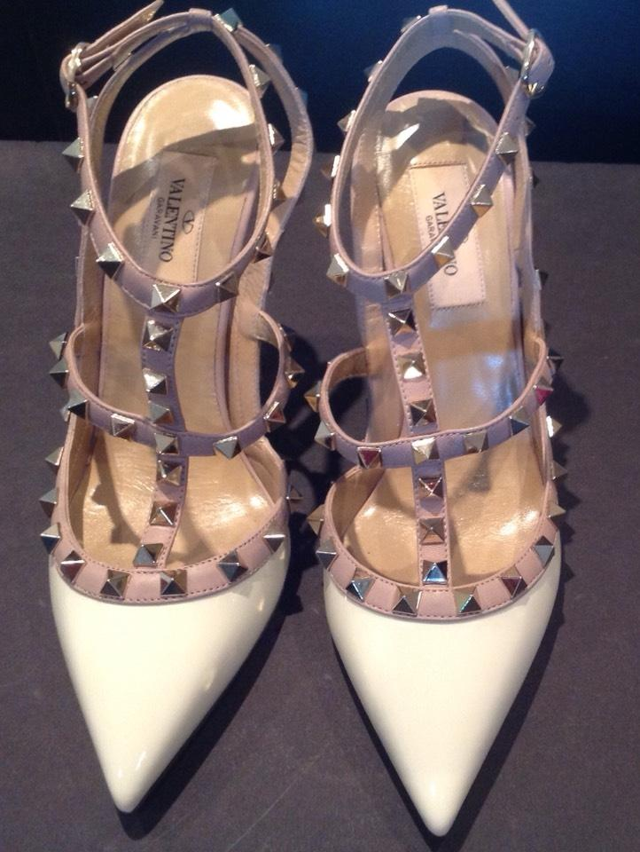 Valentino Off White/Nude Pumps Size US 7.5 Regular (M, B)
