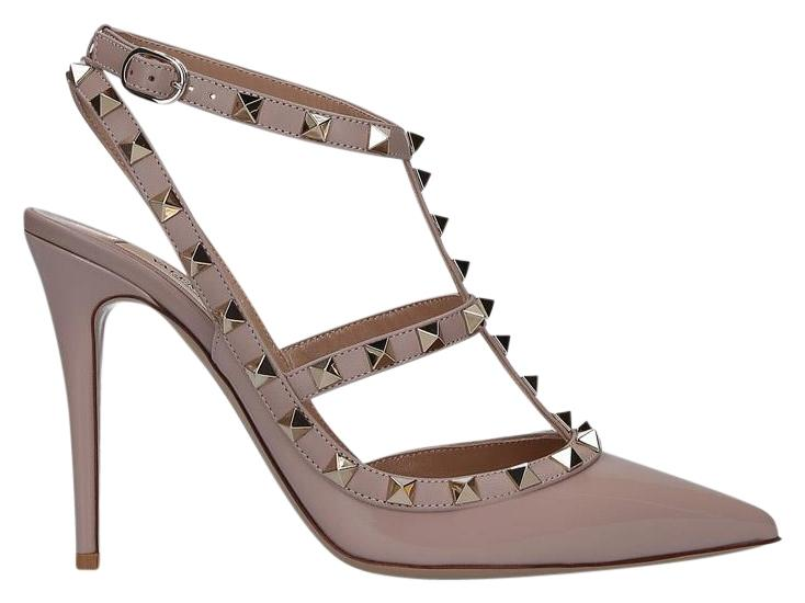 Valentino Powder Rockstud Slingback 100mm Pumps Size EU 38 (Approx. US 8) Regular (M, B)