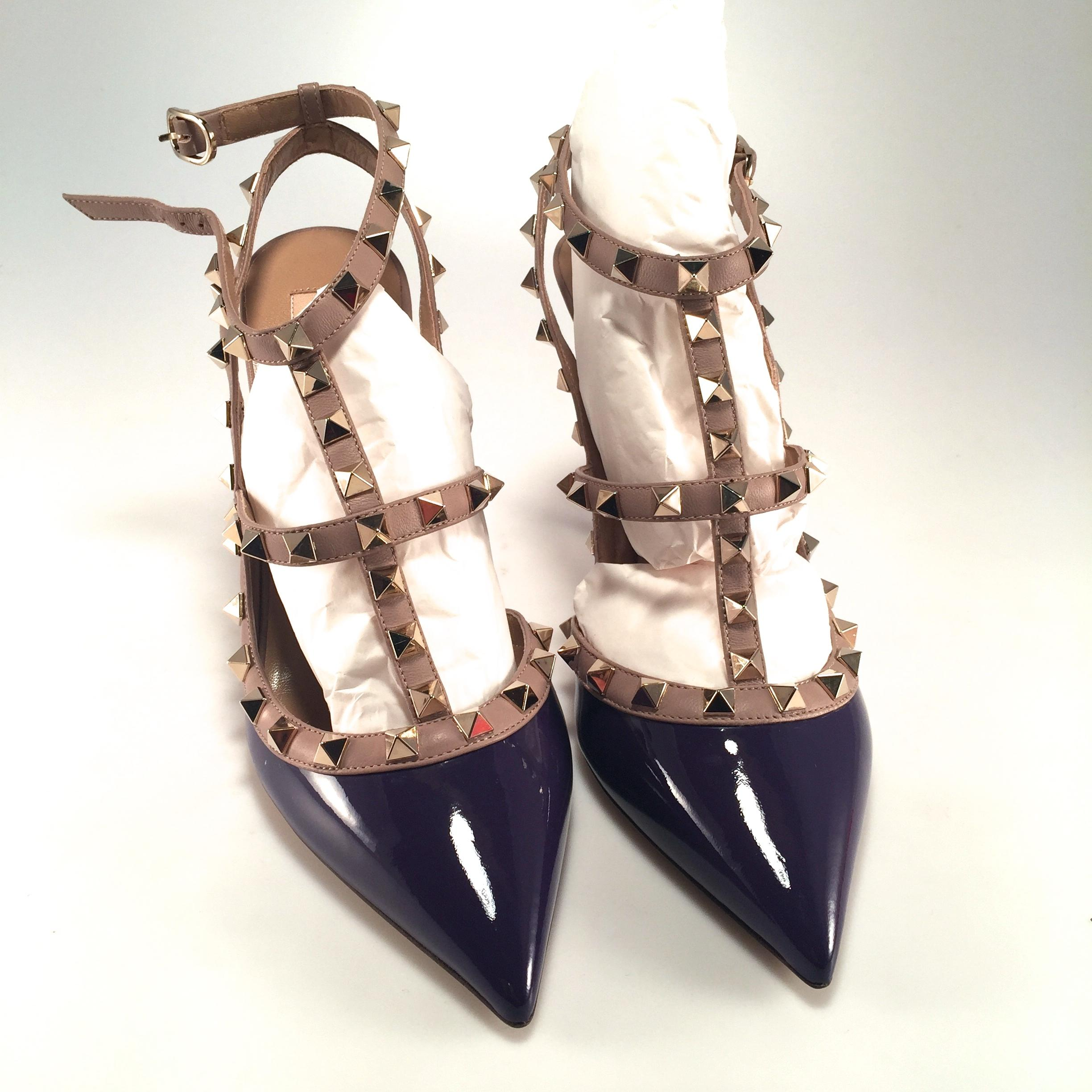 Purple Spiked Heels