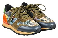 Valentino Garavani Rockrunner Olive Green, Burnt Orange, Black, Tan, Multicolor Athletic