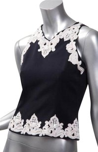 Valentino Vintage Embellished Womens Sleeveless Shirt Top Black