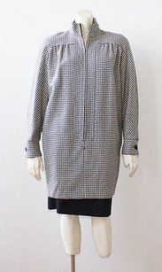 Valentino Valentino Black White Wool Blend Houndstooth Two Piece Skirt Suit Hs2816