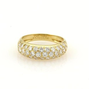 Van Cleef & Arpels Vca Van Cleef Arpels Diamonds 18k Yellow Gold Dome Band Ring