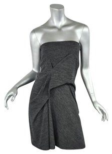 Vanessa Bruno Stretch Wool Knit Strapless Above Kneemini Womens 1 Dress
