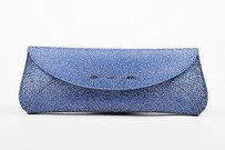 VBH Metallic Silver Blue Clutch