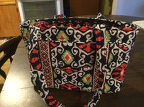 Vera Bradley Tote in Multi color Red, Black and Green