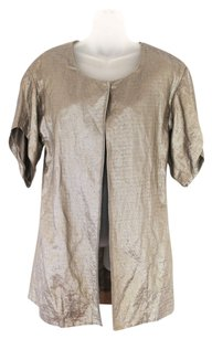 Vera Wang Evening Jacket Gold Blazer