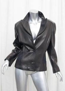 Versace Gianni Womens Vintage Black Jacket