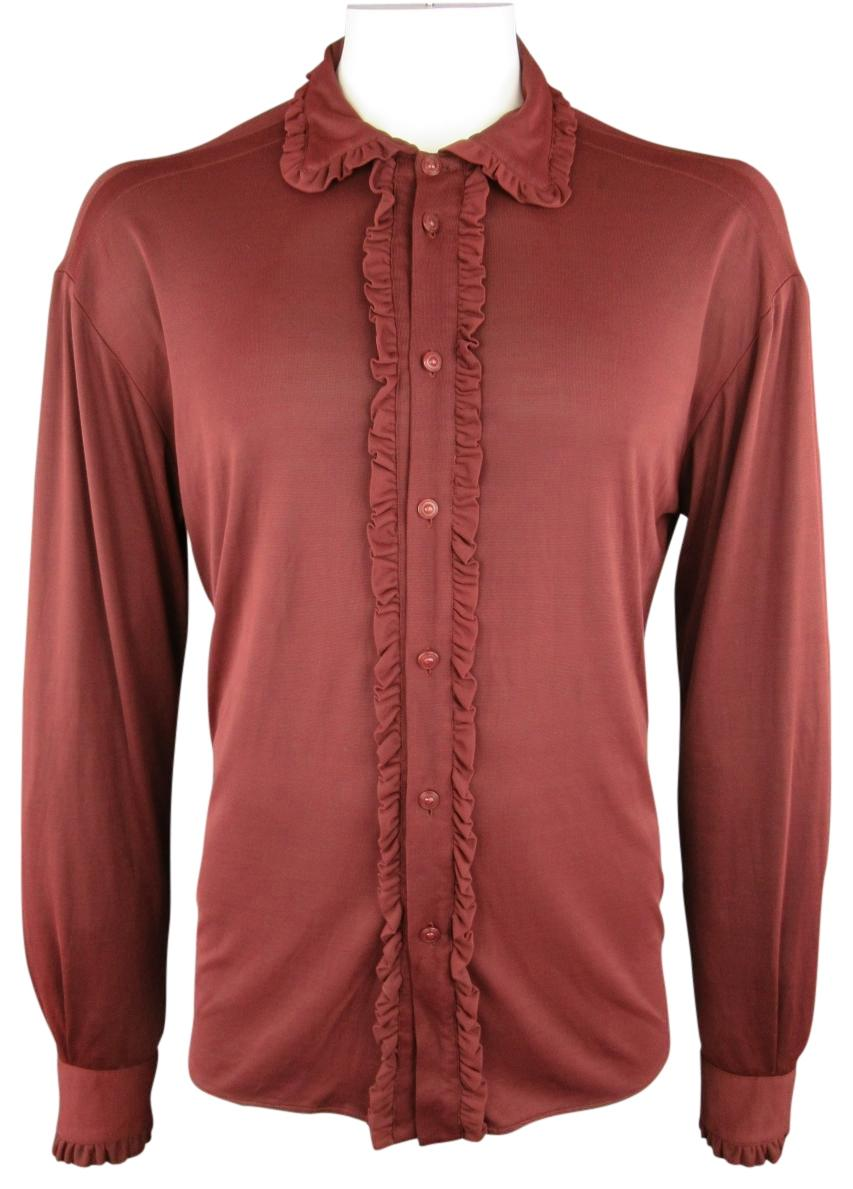 burgundy versace shirt