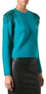 Versace Embellished Epaulettes Wool Sweater
