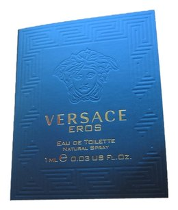 Versace Versace Eros Eau De Toilete 1ml/.03fl oz Spray Sample Fragrance Made in Italy