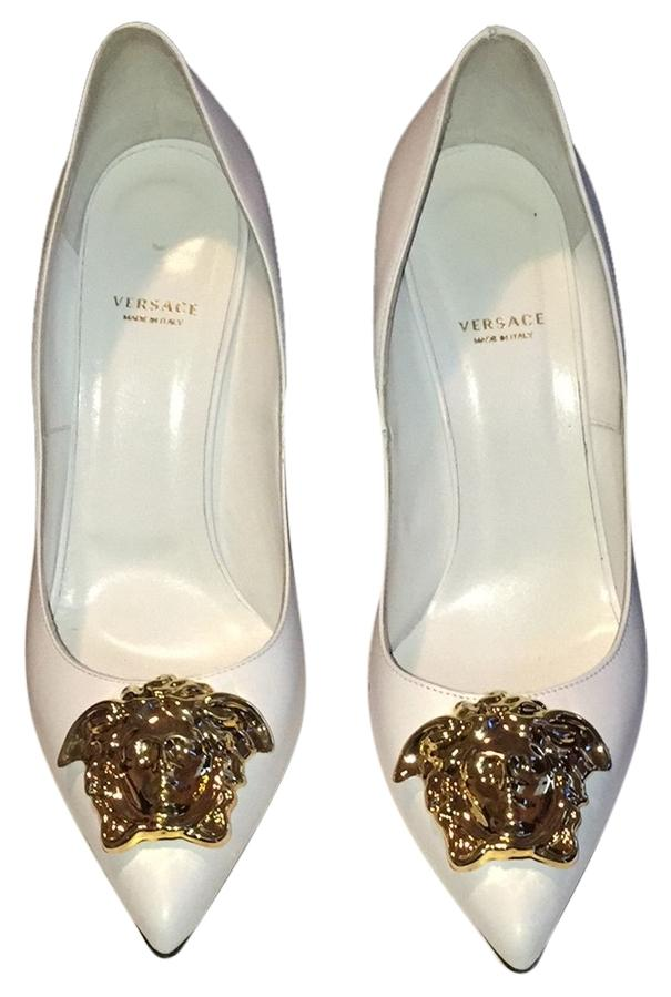Versace White Palazzo Pumps Size US 11 Regular (M, B)