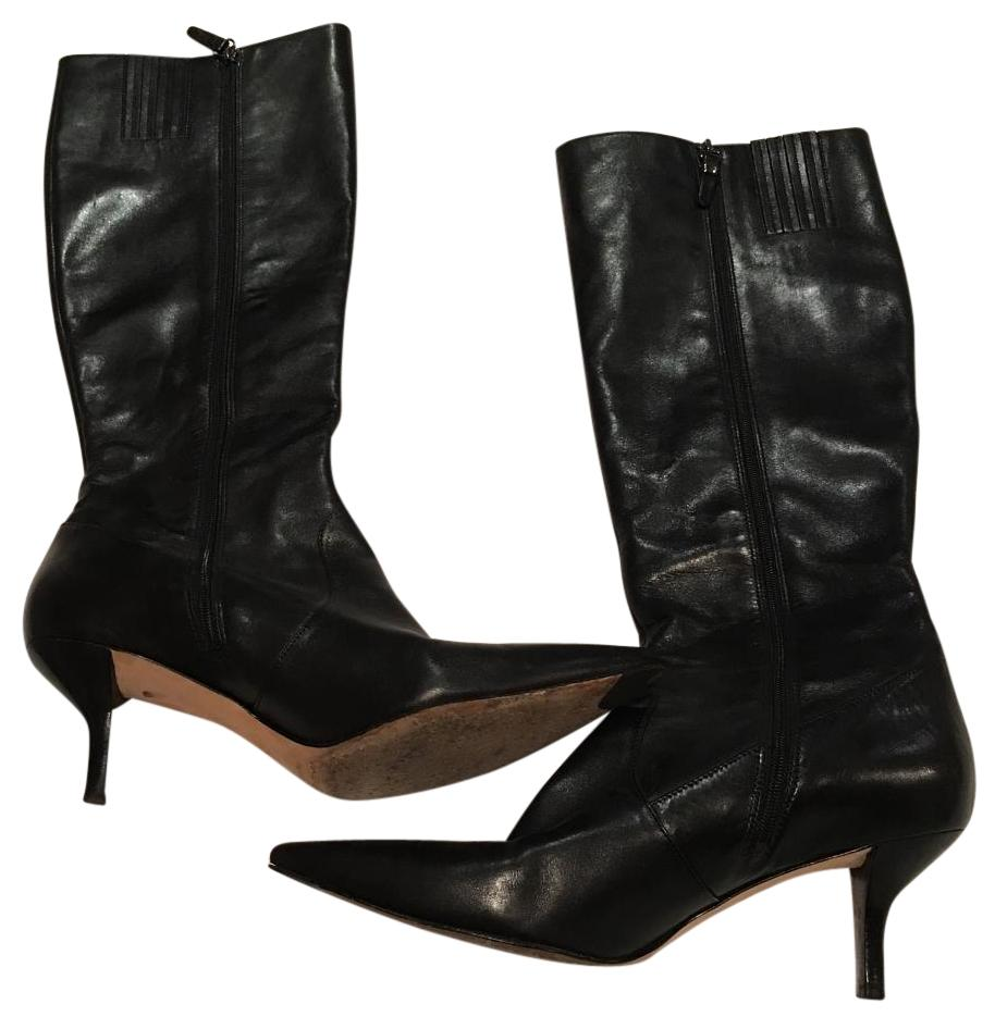 via spiga black leather boots boots booties on sale
