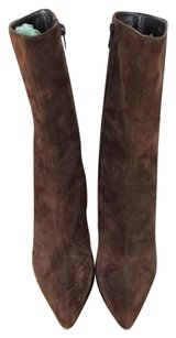 Via Spiga Womens Solid Brown Boots