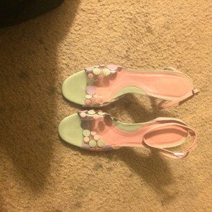 Via Spiga Pastel Circles Vintage Mint Pumps