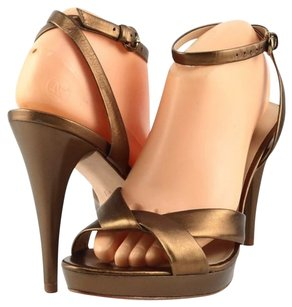 Via Spiga Lyra Metallic Gold Platforms