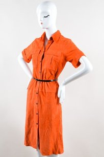 Victoria Beckham short dress Orange Suede on Tradesy
