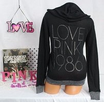 Victoria's Secret Pink Lightweight Sweater Foil 1986 Sweatshirt