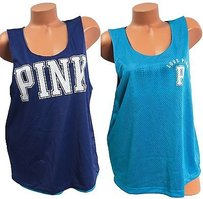 Victoria's Secret Victorias Pink T Shirt Blue