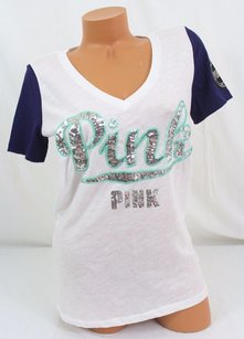 Victoria's Secret Victorias Pink T Shirt Multi-Color