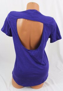 Victoria's Secret Victorias Pink Cutout T Shirt Purple