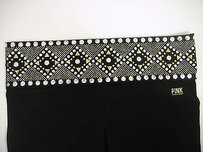 Victoria's Secret Victorias Secret Pink Yoga Boot Lounge Black Pant Gold Silver Bling