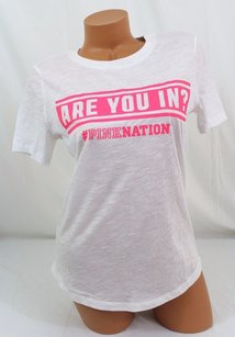 Victoria's Secret Victorias Pink Nation T Shirt White