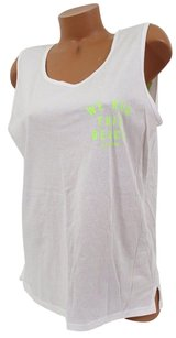 Victoria's Secret Pink Lwe Run This Beachcampus Tank Neon Green T Shirt White