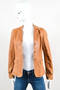 Vince Tan Leather Three Brown Jacket