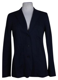 Vince Womens Basic Navy Jacket