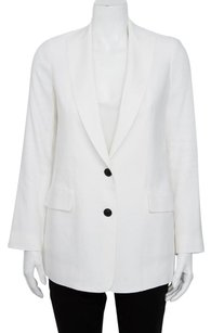 Vince Button Notch White Jacket