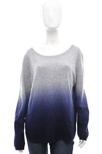 Vince Heather Gray Blue Dip Sweater