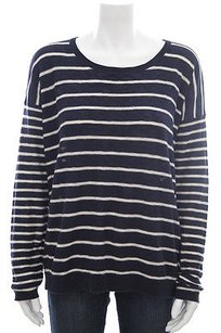 Vince Navy White Striped Sweater