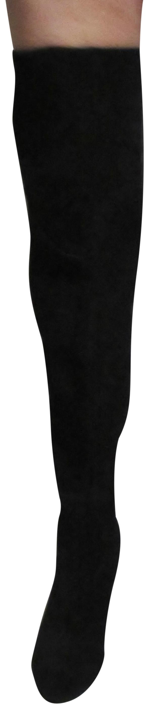Vince Camuto Black New Suede Thigh High Fold To Knee High M Boots/Booties Size US 10 Regular (M, B)